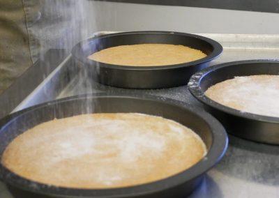 Deli cake baking