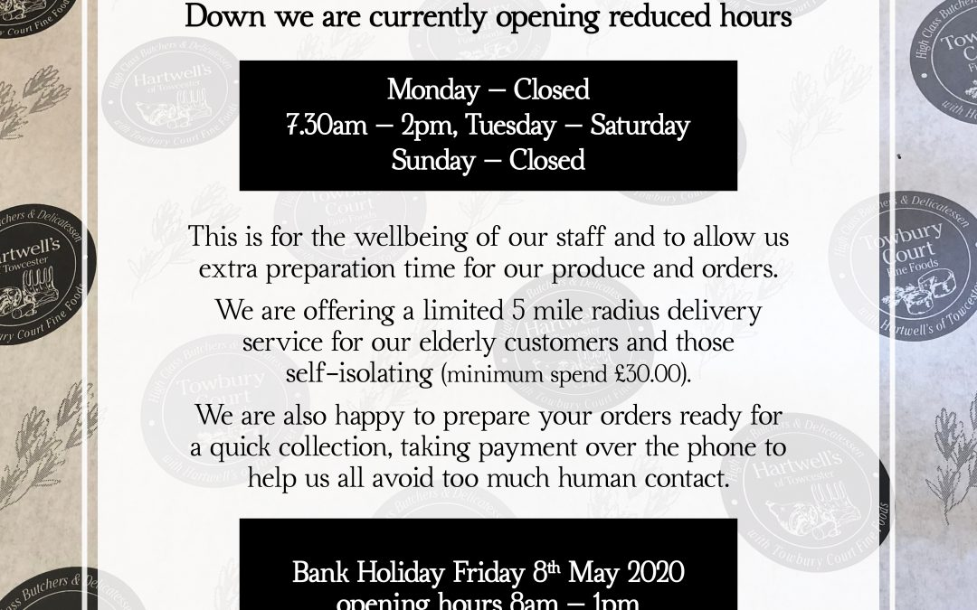 Opening times update