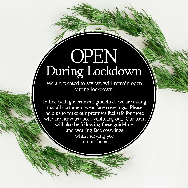 Towbury Court Open during lockdown Nov20